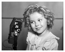 Shirley Temple at mic